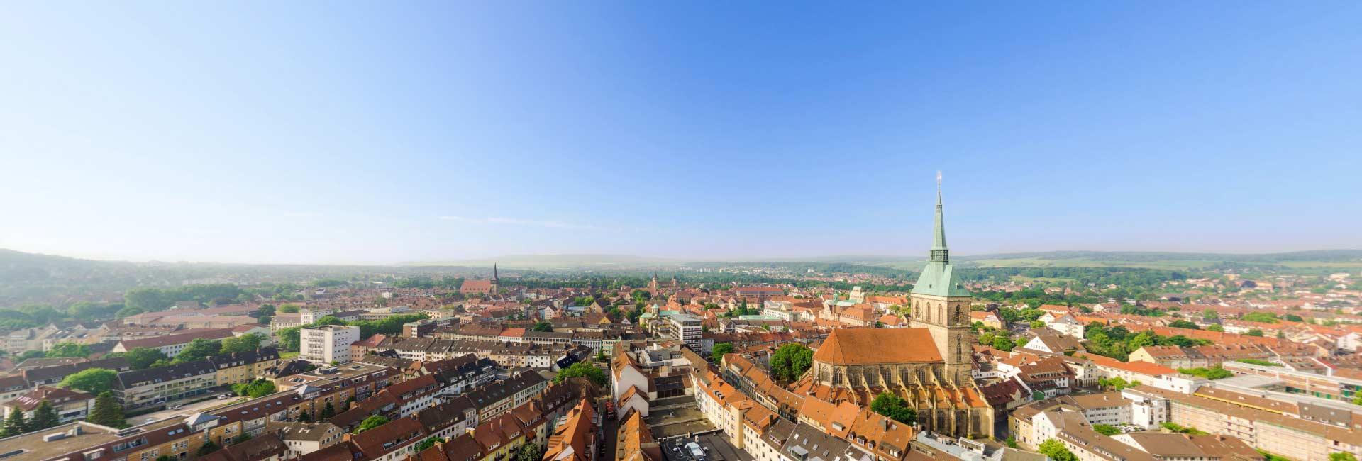 Luftpanorama über Hildesheim