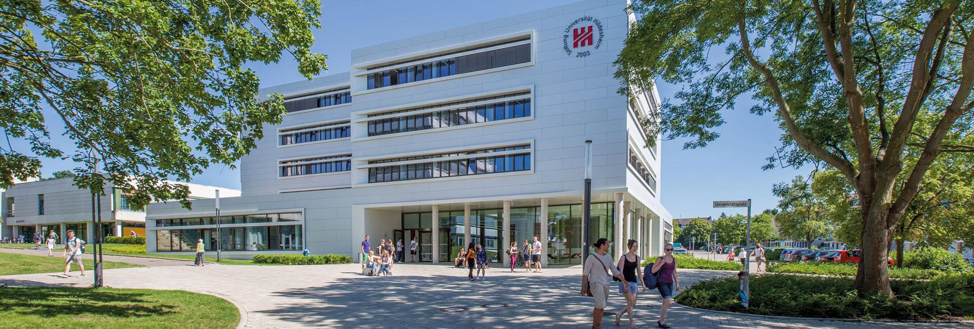 Blick auf die Universität Hildesheim